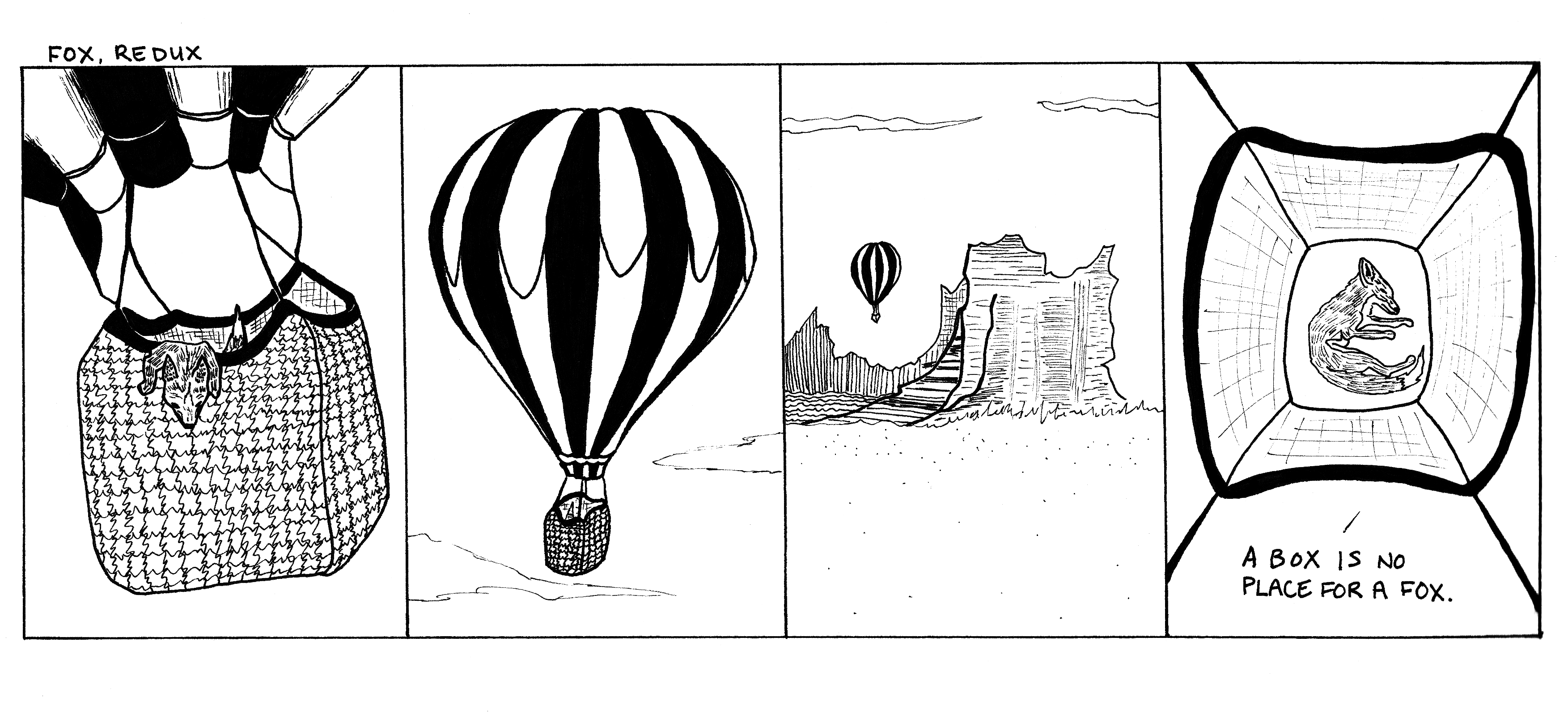 Even in a hot air balloon he continues to be sleepy