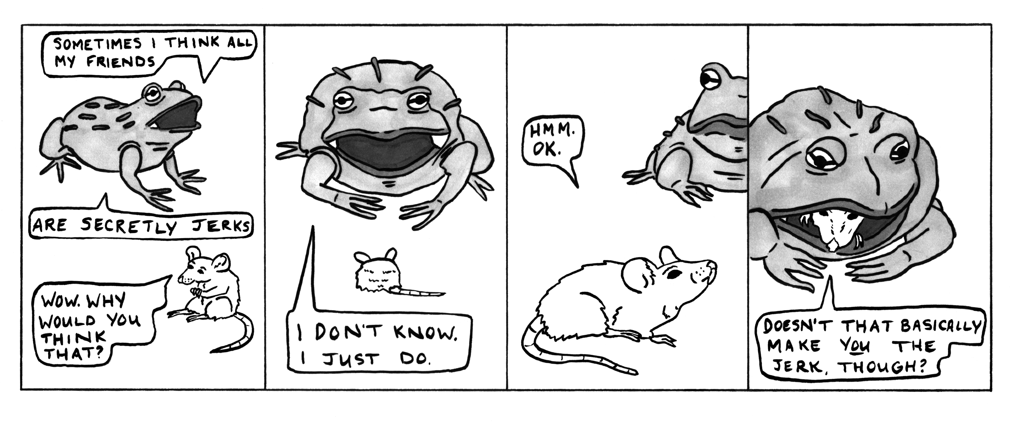 Probably a good time to emphasize the author/comic frog divide