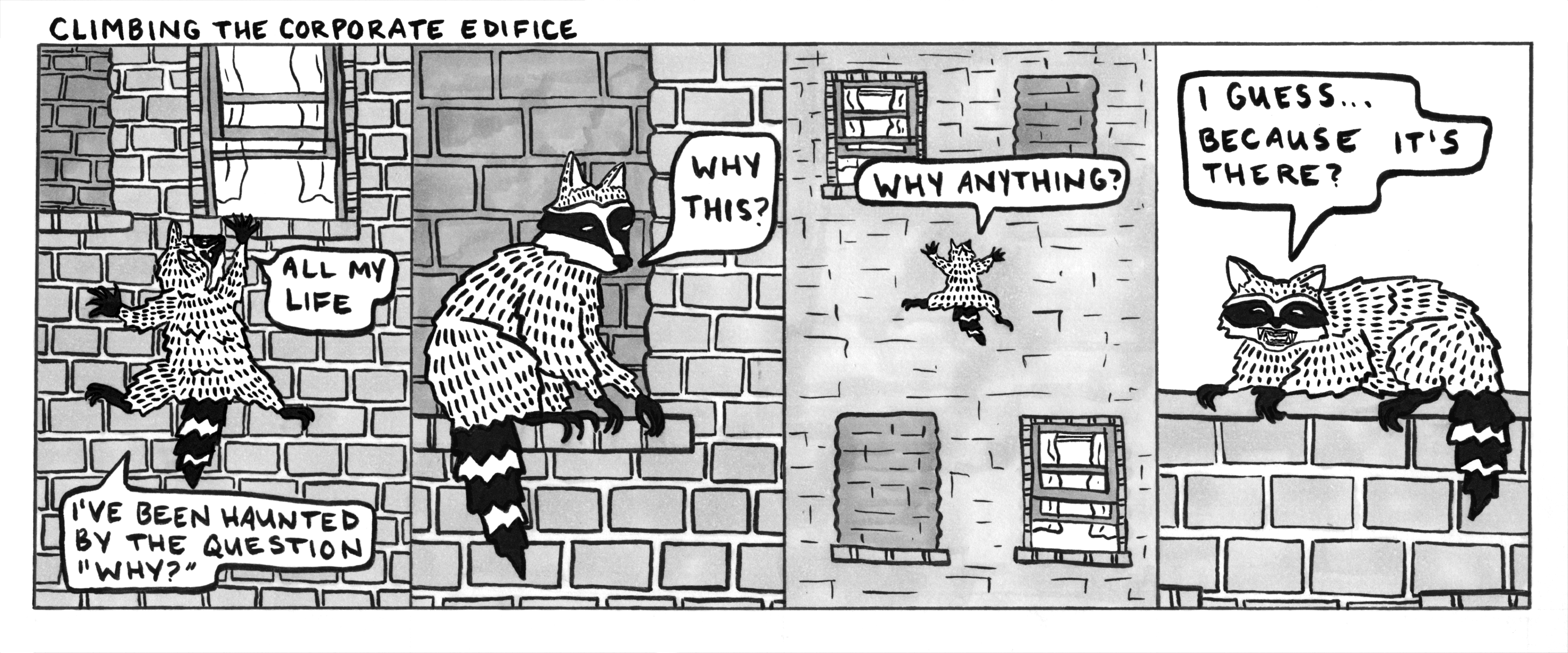 Remember that raccoon that climbed up an office building in, I think, Minnesota?