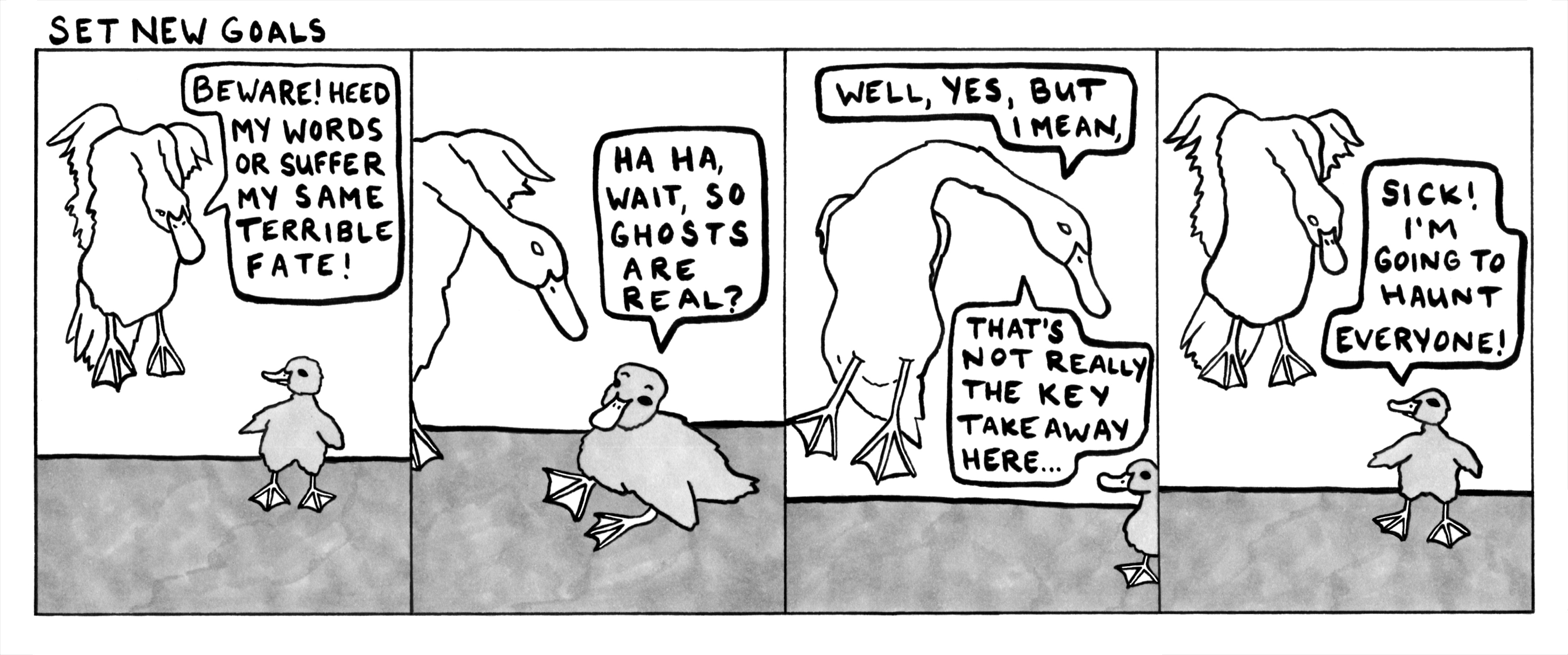 Being a ghost's not so scary if you're already haunted